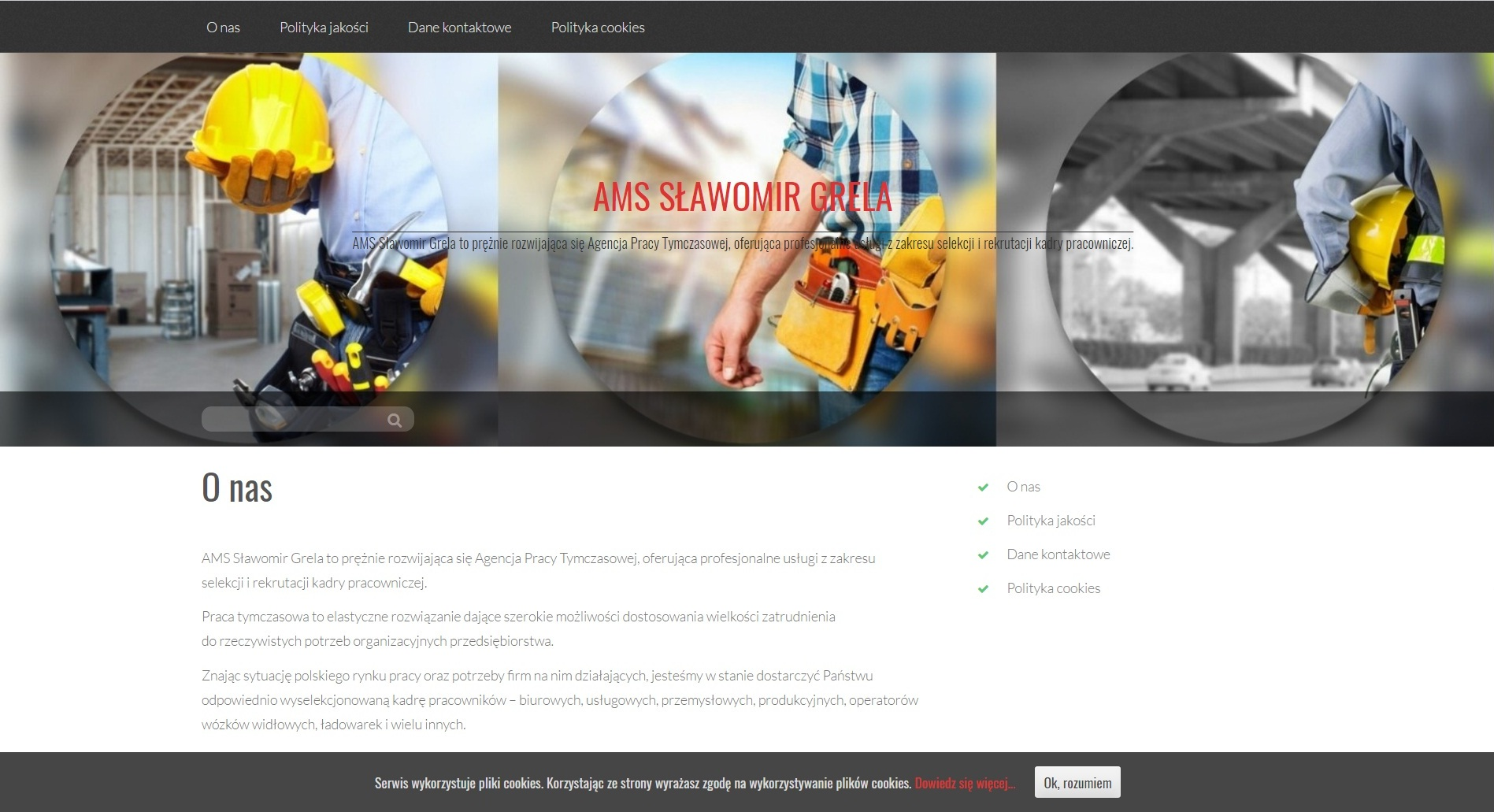 Kolejny projekt strony internetowej wwykonaniu Office Assistant